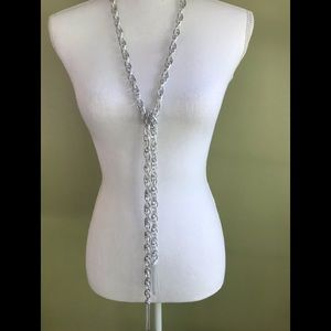 Paparazzi silver chain neckless earring set